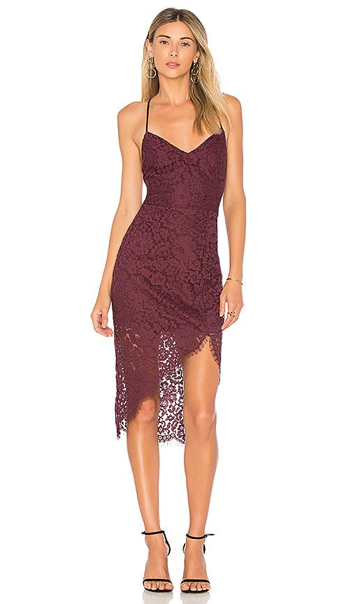 Lovers + Friends Skylight Dress in Wine