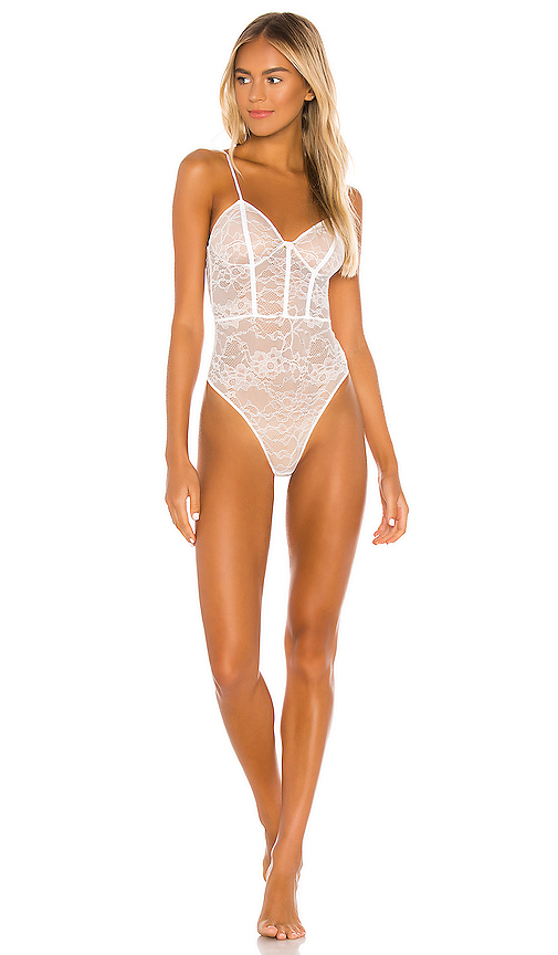 Lovers + Friends Dulce Bodysuit in White. - size XS (also in L,M,S,XL)