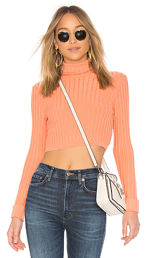 Lovers + Friends You Go Girl Sweater in Coral. - size XS (also in L,M,S)
