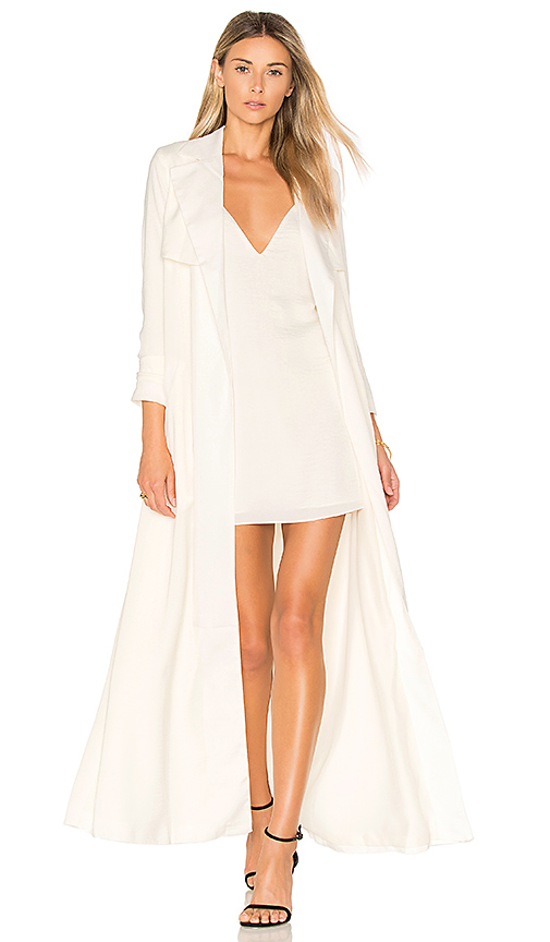 Lovers + Friends x REVOLVE Late Evening Trench in Ivory