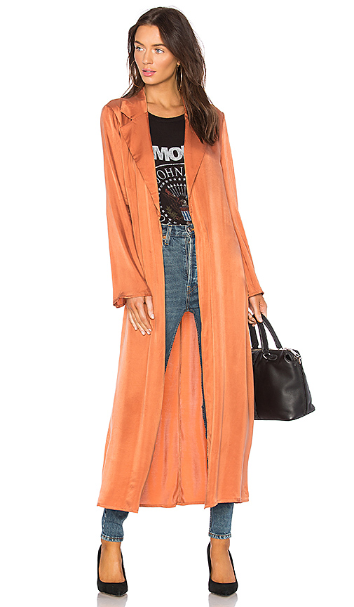 Lovers + Friends x REVOLVE Nina Trench in Rust
