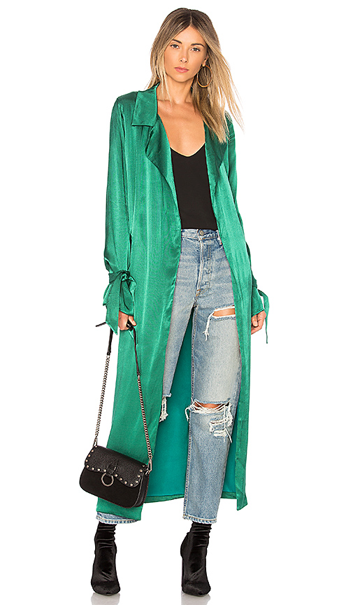 Lovers + Friends Candace Trench in Green