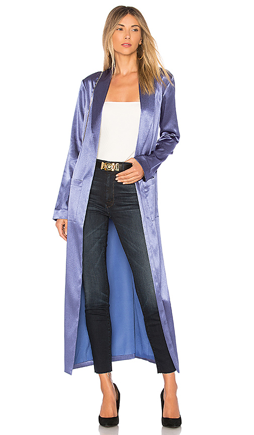 Lovers + Friends Christa Robe in Blue