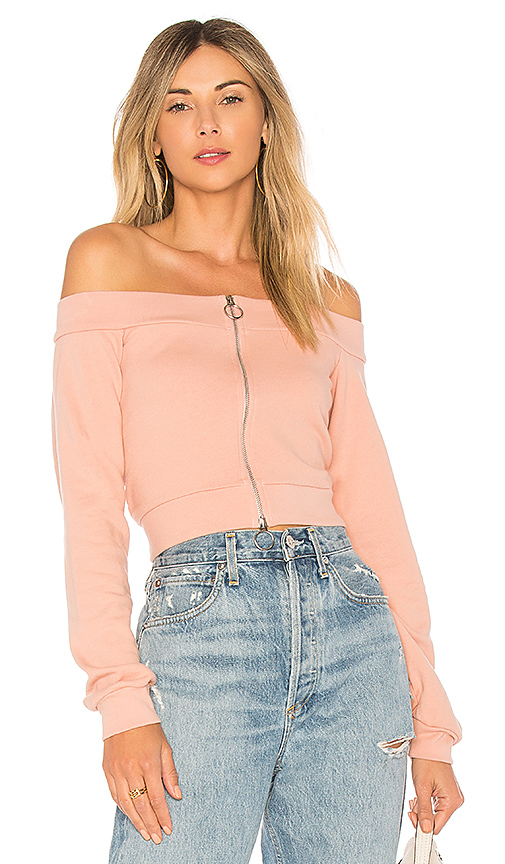 Lovers + Friends x REVOLVE Weston Zip Up in Blush