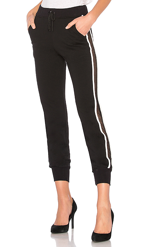 Lovers + Friends WORK by Lovers + Friends On the Line Track Pant in Black. - size XS (also in L,M,S)