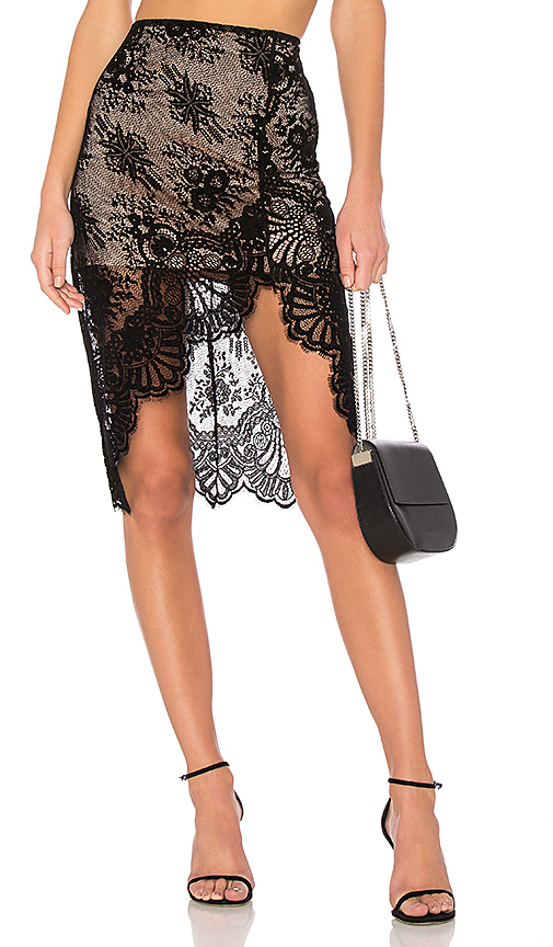 Lovers + Friends Lola Skirt in Black. - size L (also in M,S,XS)