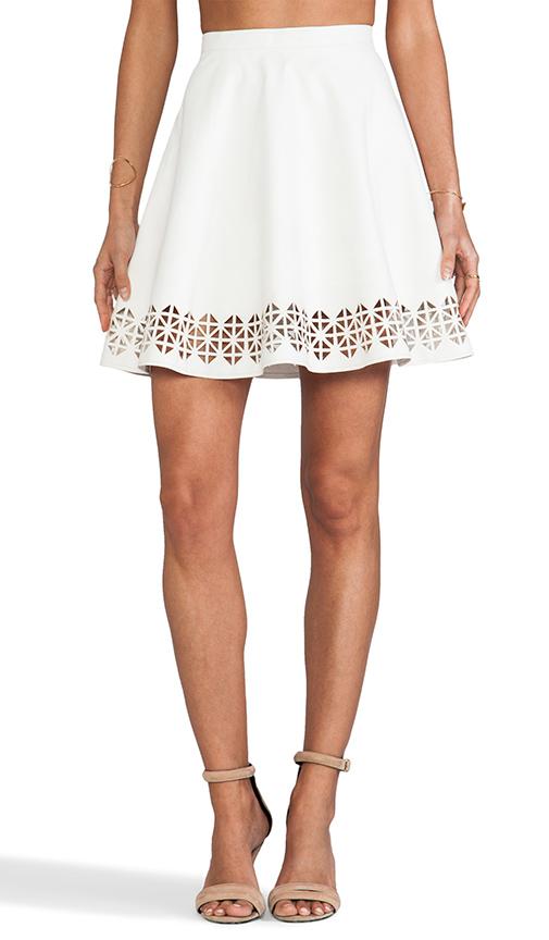 Lovers + Friends x Monica Rose Charlie Vegan Leather Skirt in White