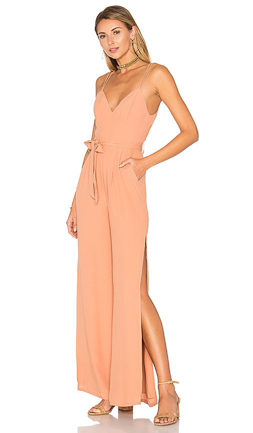 Lovers + Friends Charisma Jumpsuit in Tan. - size L (also in M,S,XS)