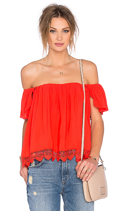 Lovers + Friends x REVOLVE Life's A Beach Top in Orange