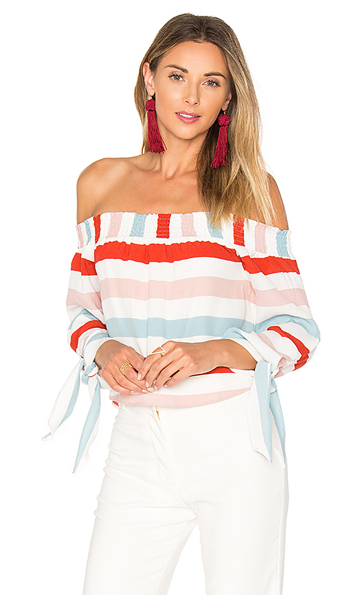 Lovers + Friends Dream Lover Top in Red