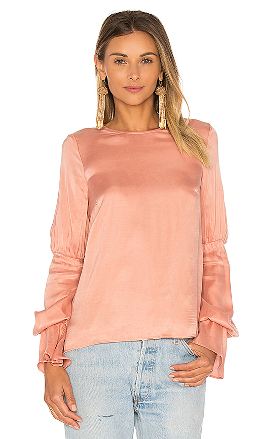 Lovers + Friends x REVOLVE Major Blouse in Pink. - size L (also in M,S,XS)