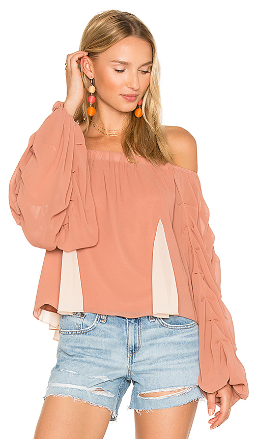 Lovers + Friends x REVOLVE Laura Blouse in Tan
