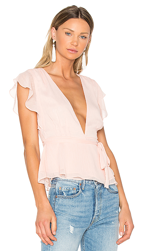 Lovers + Friends x REVOLVE Butterfly Blouse in Blush