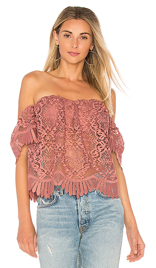 Lovers + Friends Life's A Beach Top in Mauve