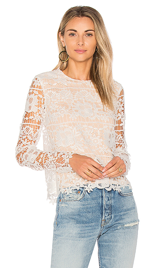 Lovers + Friends Lotus Top in Ivory