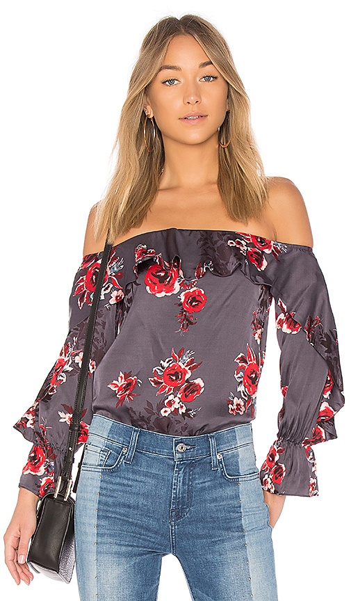 Lovers + Friends Addie Blouse in Blue