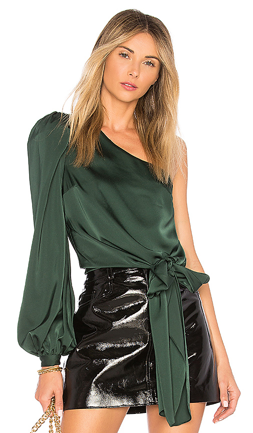 Lovers + Friends Kendall Blouse in Dark Green. - size L (also in M,S,XS, XXS)