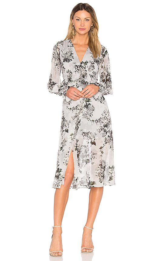 Lover Wrap Dress in Slate. - size Aus 10/US 6 (also in Aus 12/US 8,Aus 8/US 4)