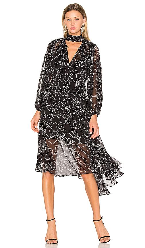 Lover Tuberose Maxi Dress in Black