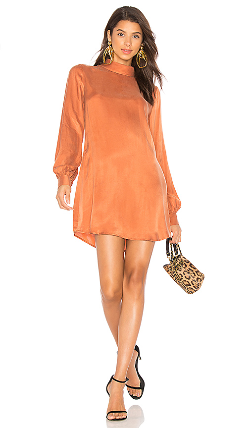 LPA Dress 339 in Burnt Orange