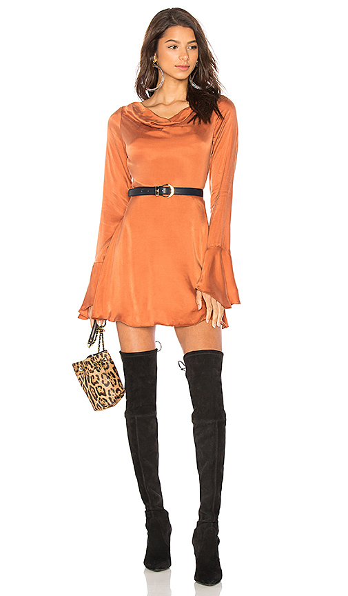 LPA Dress 604 in Burnt Orange