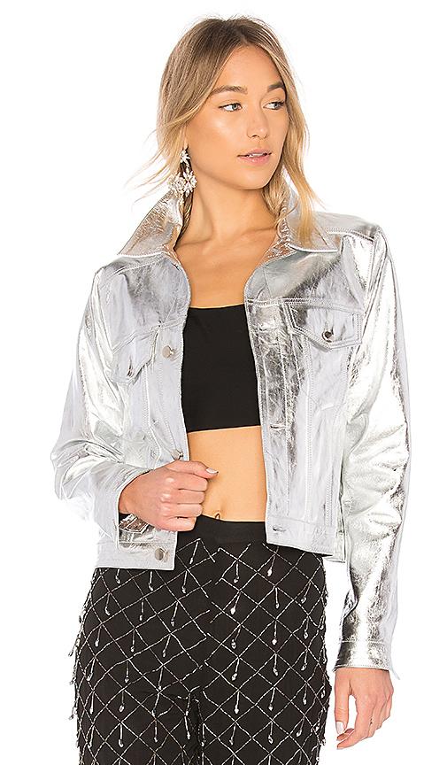 LPA Jacket 296 in Metallic Silver