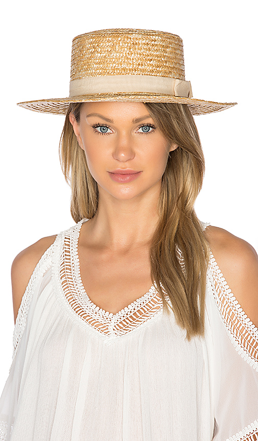 L*SPACE J'Adore Hat in Cream