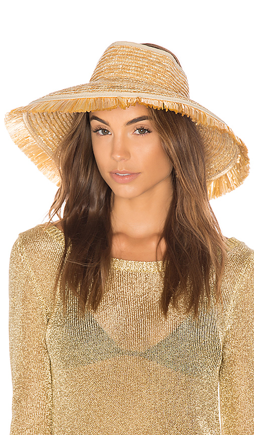 L*SPACE Del Rey Roll Up Hat in Tan