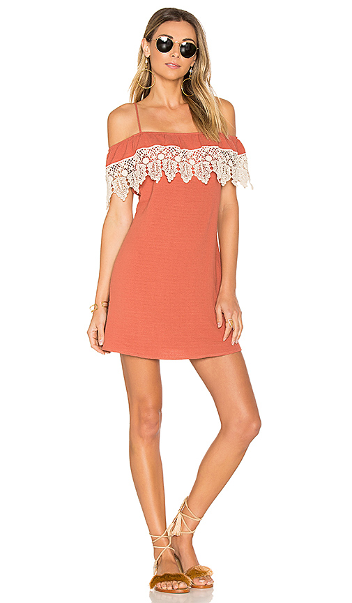 L*SPACE Afterglow Dress in Red