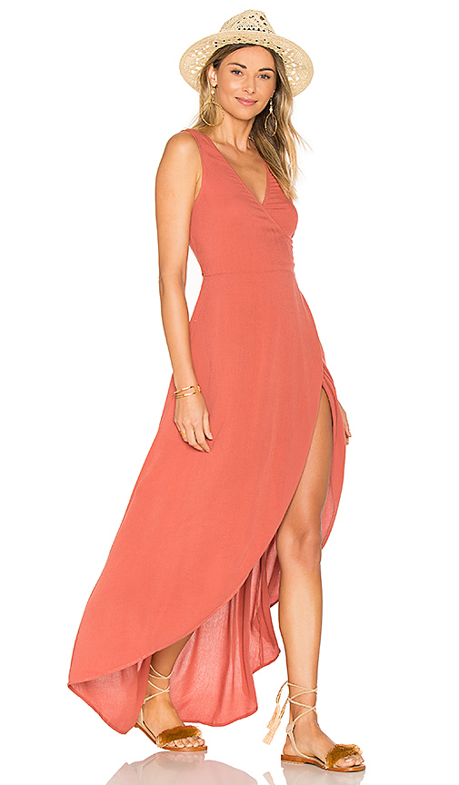 L*SPACE Twilight Wrap Dress in Pink. - size L (also in M,S,XS)