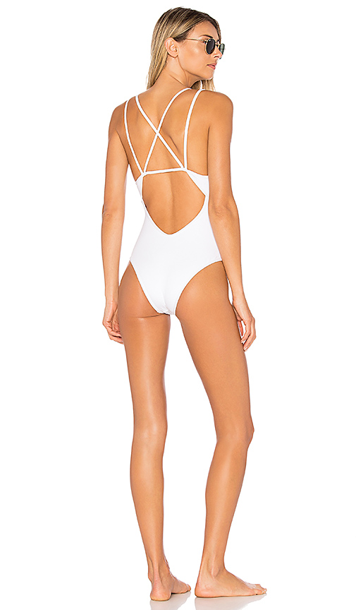L*SPACE Dakota One Piece in White