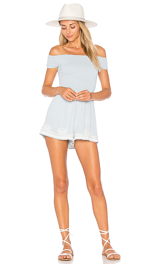 L*SPACE Nanette Romper in Baby Blue