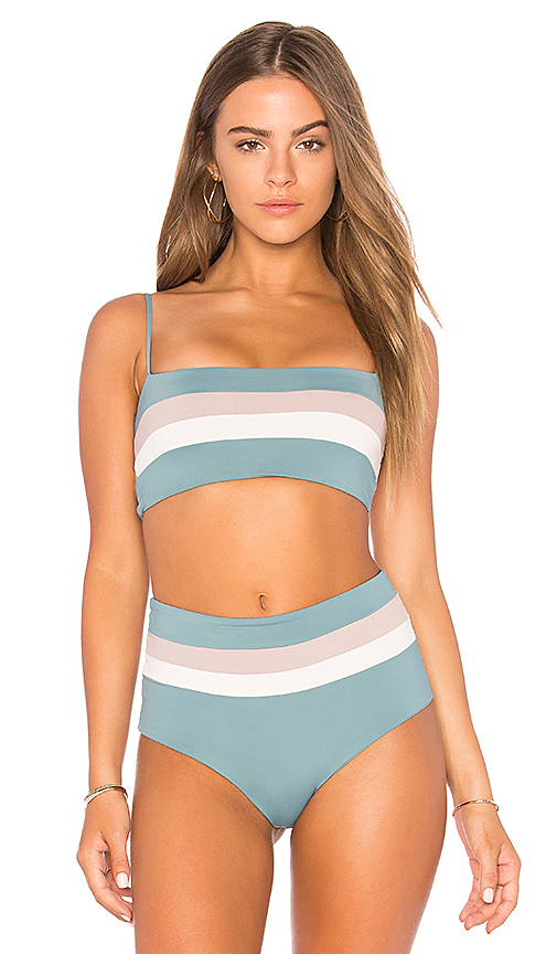 L*SPACE Rebel Stripe Bandeau in Slate
