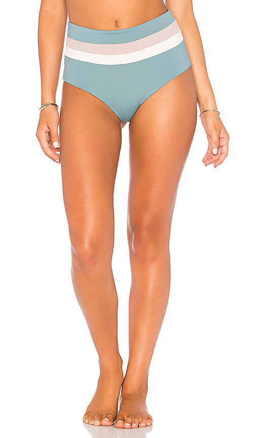 L*SPACE Portia High Waist Bottom in Slate