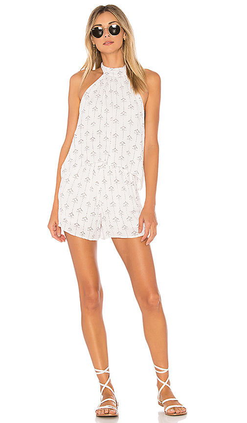 L*SPACE Kelly Native Geo Romper in Ivory