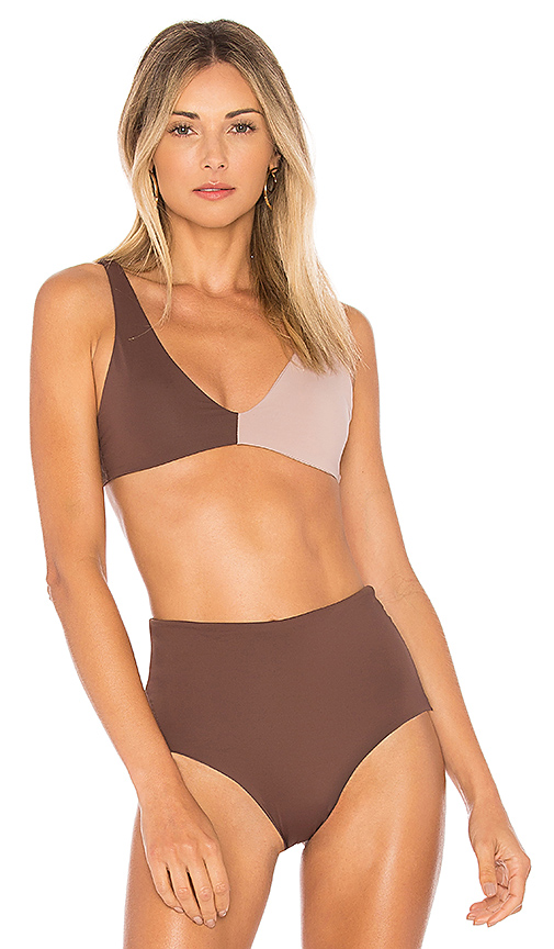 L*SPACE Ozzie Top in Brown