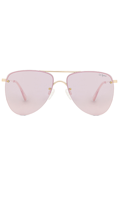 Le Specs The Prince Sunglasses in Metallic Gold