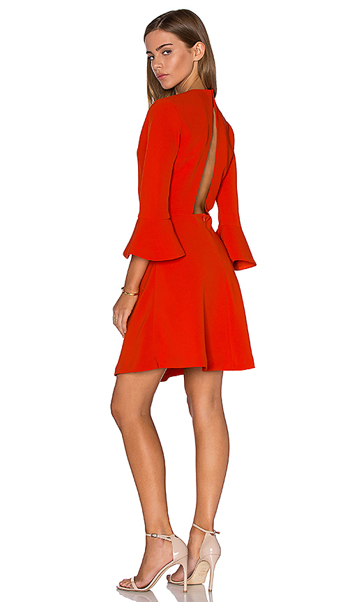 Lucy Paris Bell Sleeve Dress in Orange. - size M (also in S)