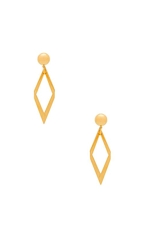 LARUICCI Diamond Doll Earring in Metallic Gold