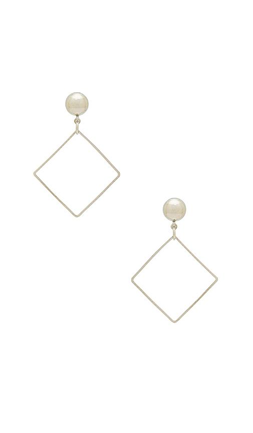 LARUICCI Diamond Earring in Metallic Silver
