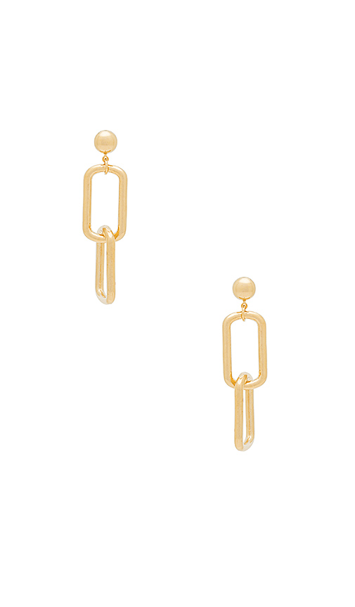 LARUICCI Chain Link Earring in Metallic Gold.