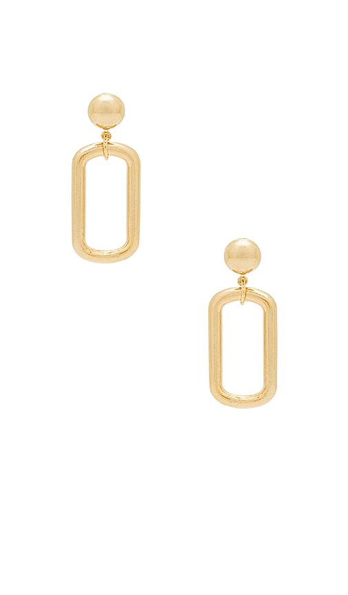 LARUICCI Oval Earring in Metallic Gold