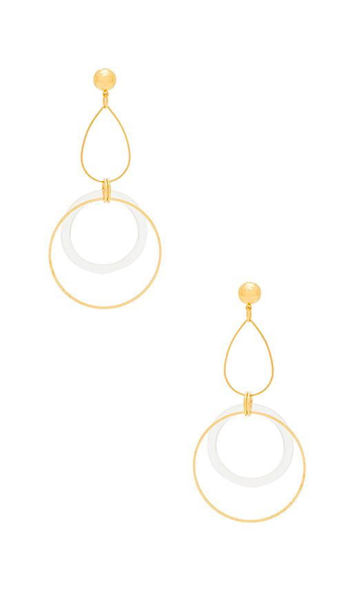 LARUICCI Linked Circle Earring in Metallic Gold