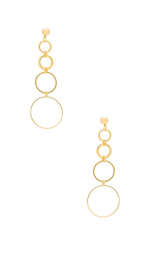 LARUICCI Cascading Circles Earring in Metallic Gold