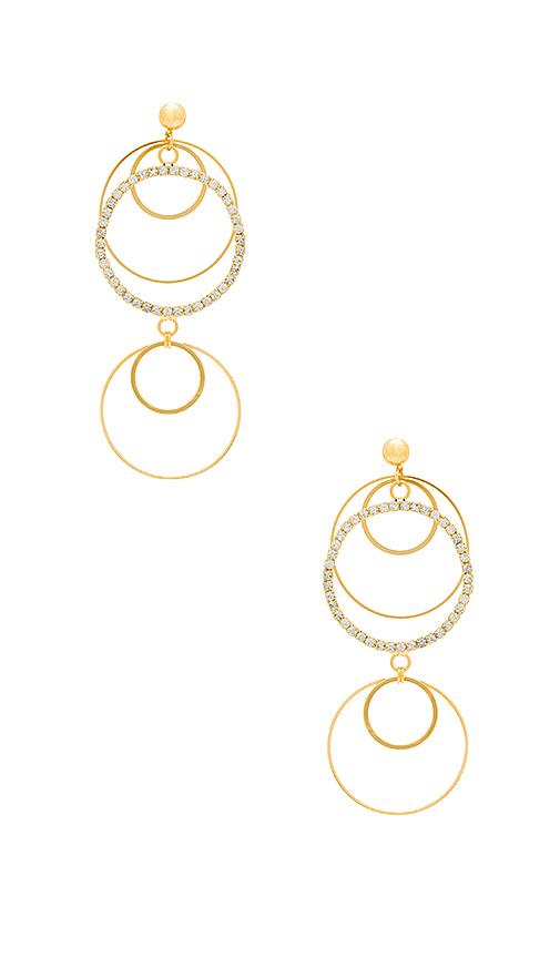 LARUICCI Circle Statement Earring in Metallic Gold
