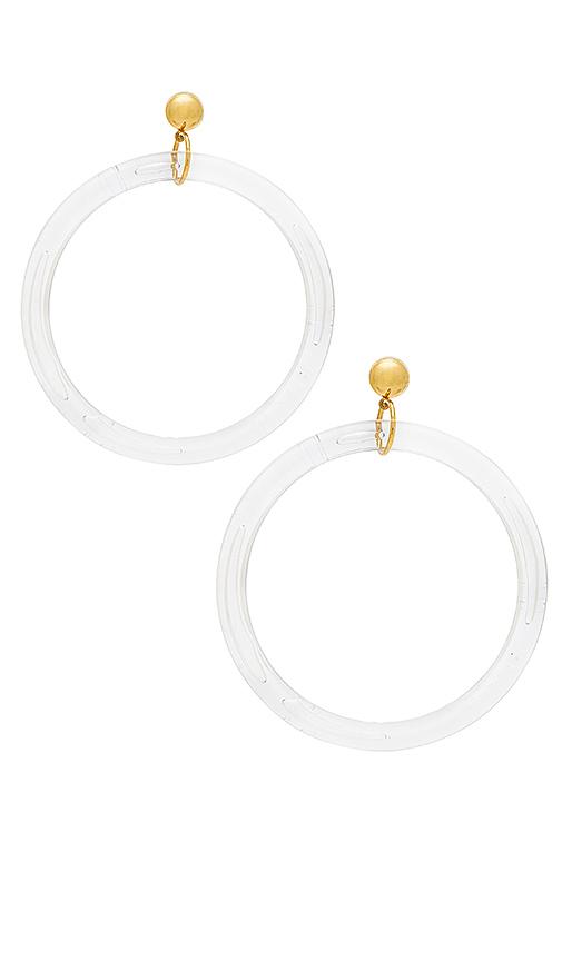LARUICCI Wide Circle Hoops in Metallic Gold