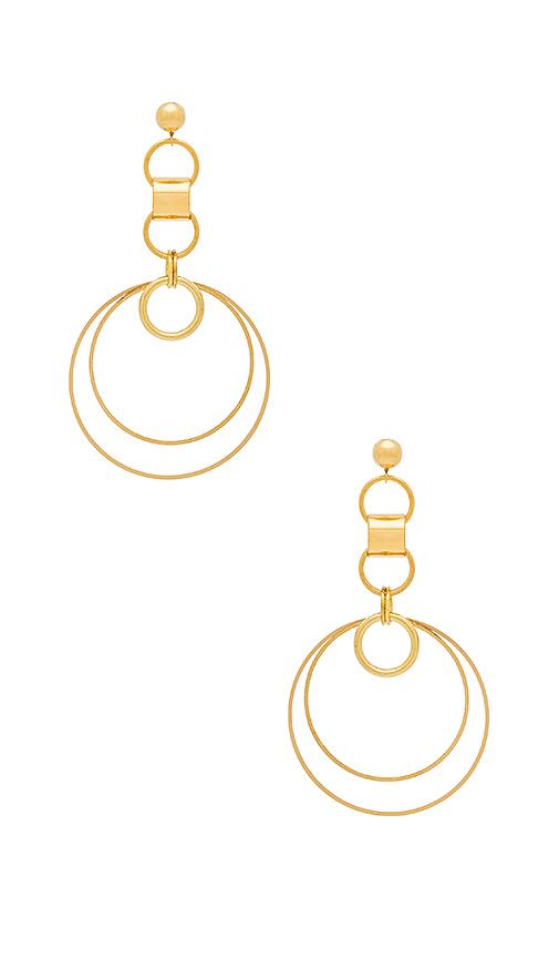 LARUICCI Tidal Earring in Metallic Gold