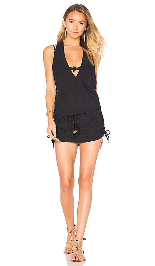 Luli Fama T Back Mini Dress in Black
