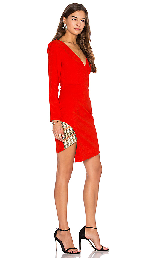 LUMIER BETWEEN THE LINES LONG SLEEVE DRESS