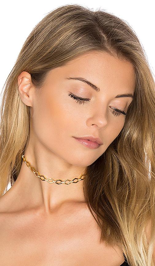 Luv AJ Chain Link Choker in Metallic Gold